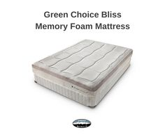The Green Choice® line of mattresses offers superior support for proper spinal alignment and the body hugging comfort of our exclusive ViscoElas™ family of plant based memory foams. Get more pressure relieving comfort and less partner disturbing motion transfer with the Green Choice Bliss memory foam mattress.