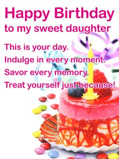 To My Sweet Daughter