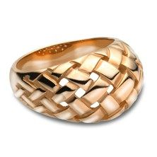 James Avery Dome Woven Ring in 14KT Yellow Gold.  $795