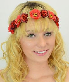 """Make that  a pink & burgundy floral crown headband if you please. Add feathers or heart shapes and say """"I DO"""" with PJ Leto Collection #zulilyfinds http://www.destinationweddings.travel/default.asp?sid=34790&pid=58673"""