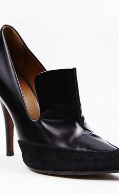 Celine Suede Tipped Leather Pump
