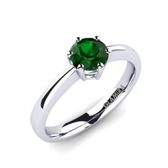 Emerald engagement rings signify a bond that is precious and the value it holds is priceless. They not only hold love but also is a symbol of the union of two individuals till the end of time. Emerald, Gemstone Rings, Engagement Rings, Bond, Stuff To Buy, Jewelry, Rings For Engagement, Jewellery Making