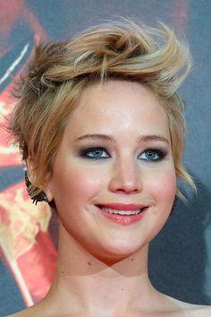 Der Pixie von Jennifer Lawrence in Madrid  Einen ziemlich beeindruckenden Twist hatte Jennifer Lawrence'Hairstylist dem Pixie für die