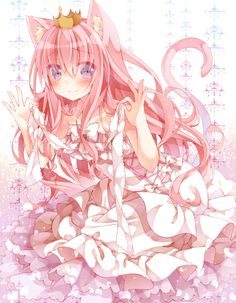 Anime Girls Flower Petals Long Hair Pink Eyes Pixiv Roses School ...