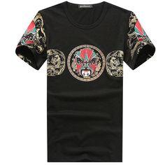 3a2a9d758 [US$17.70] Fashion Mens Peking Opera Printed Short Sleeve T-shirt Casual  Round
