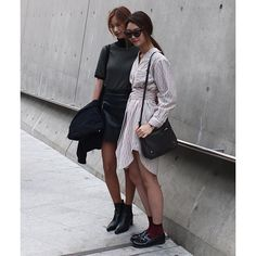 """❤️ 2016 SS Seoul Fashion Week  #miscellalove #miscellani #shopmiscellani #sfw #seoulfashionweek #korean #streetfashion #trend #style #models #ootd #ddp #dress #boots #fall #season #looks #love  #韩国时装 #韩国流行 #韩国品牌 #潮服 #流行时尚 #代购 #东大门"""
