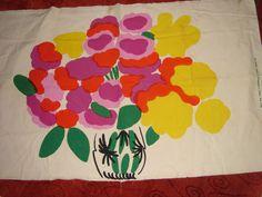 "Marimekko Finland Maija Isola ""ONNEA"" Vintage Fabric Original 1972"