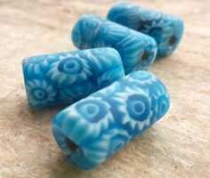 Bright Blue African Trade Beads, Vintage Venetian Millefiori Bead ,1 Vintage Venetian Bead,African Trade Beads,Collectible Beads,Old Beads by RedEarthBeads on Etsy