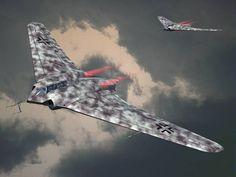 ✠ Horten Ho 229 Nightfighter. ✠ Re-Pinned By HistorySimulation.com