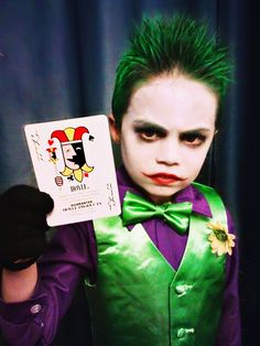 Logan wants to be joker for Halloween. Boys Joker Costume, Old Halloween Costumes, Halloween Carnival, Halloween Kostüm, Holidays Halloween, Joker Cosplay, Kids Costumes Boys, Family Costumes, Boy Costumes