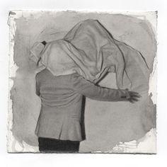 Performance para un sonámbulo 3 . graphite and watercolor on paper. 14x16cm