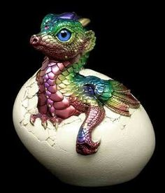 Dragon emerging from egg