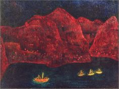 """ Paul Klee, South Coast in the Evening, 1925 """