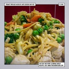 This supper does get a few syns from the peanut butter, but really, this peanut butter chicken noodles is worth spending those Slimming World syns on! Slimming World Dinners, Slimming Eats, Slimming World Recipes, Healthy Eating Recipes, Diet Recipes, Cooking Recipes, Healthy Food, Peanut Butter Chicken, Weightwatchers Recipes