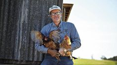 Captain Chook … Joel Salatin's farming method, which involves rotating animals on the land, followed by fallow periods, claims to dramatically increase productivity without the use of fertilisers.