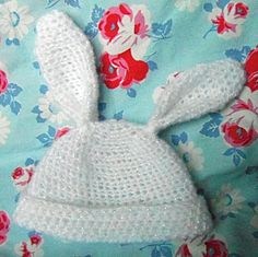 Ravelry: Baby Bunny Hat free crochet pattern by Cult of Crochet-3-6 months
