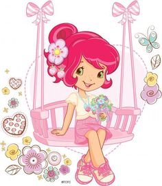 Cool as sweet, cute as fun! Strawberry Shortcake Pictures, Strawberry Shortcake Coloring Pages, Strawberry Shortcake Characters, Imagenes Betty Boop, Cute Little Girls, Cute Images, Coloring Book Pages, Cute Drawings, Strawberries