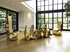 Blabla chairs  by Delphine Boel  Brussels, Belgium  Details    SculptureMetalPop Art  55.1 x 23.6 x 29.9 inOther  Original Available    $17,000.00