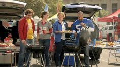 Two couples are tailgating when one notices that the others' hot dogs look much more delicious than theirs. When she finds out that they are Hebrew National Beef Franks with only select cuts of kosher beef in them she and her husband quickly ditch their dogs.