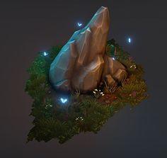 Rock Formation Diorama, Andy Hansen on ArtStation at https://www.artstation.com/artwork/rock-formation-diorama