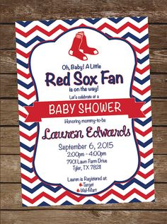 red sox baseball baby shower invitation red sox birthday party