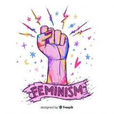 Composición adorable de feminismo dibujada a mano vector gratuito Feminist Af, Feminist Quotes, Girl Power Tattoo, Power Girl, Digital Illustration, Vector Free, How To Draw Hands, Drawings, Photos