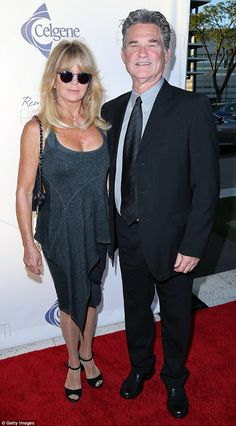 Classy couple:Goldie Hawn and longtime partner Kurt Russell captivated attention as they strolled the red carpet for the benefit event Goldie Hawn Kurt Russell, Classy Couple, How To Look Handsome, Famous Couples, Opera Singers, Kate Hudson, Golden Girls, Gray Dress, Actors & Actresses