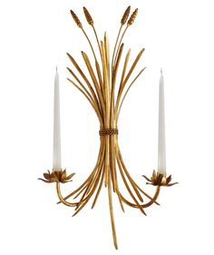 Wheat Sheaf Wall Sconce, Candle Holder