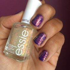 Essie Shine of the Times over Orly Charged Up