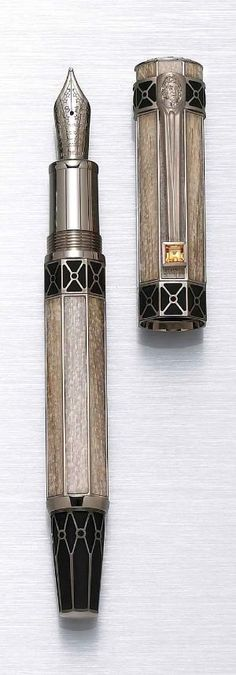 Art Deco Fountain Pen This was posted by someone else but is stunning and exactly the sort of thing I had in mind as a base.