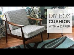How To Make a Quick and Easy Box Cushion - YouTube