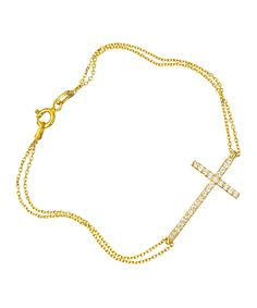 Love this gold cross bracelet!