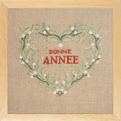 Cross stitch chart only. 95 x 107 stitches. Linen Towels, Cotton Towels, Christmas Alphabet, Alphabet Charts, Mistletoe, Christmas And New Year, Cross Stitch Embroidery, Paper Dolls, Happy New Year