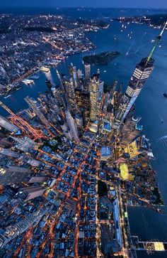 Birds Eye View Can you guess the city? By: - Architecture and Home Decor - Bedroom - Bathroom - Kitchen And Living Room Interior Design Decorating Ideas - City Photography, Landscape Photography, Photographie New York, Luxury Boat, Ville New York, Les Cascades, New York Photos, City Aesthetic, Dream City