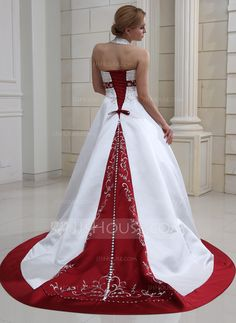 Wedding+Dresses+-+$246.99+-+Ball-Gown+Halter+Court+Train+Satin+Wedding+Dress+With+Embroidered+Beading+Sequins+(002011730)+http://jjshouse.com/Ball-Gown-Halter-Court-Train-Satin-Wedding-Dress-With-Embroidered-Beading-Sequins-002011730-g11730
