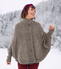 How To Knit a Poncho Cape