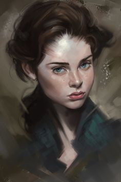 ArtStation - Girl portrait , bricks kim