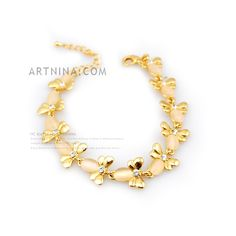Wholesale Fashion Charm Bracletes With 14k Gold Plated