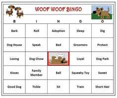 Dog Party Puppy Bingo Game 60 Cards By BuyMeSomeHappiness