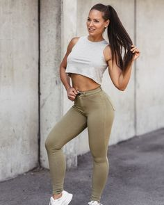 High-Waisted Chinos Girls Jeans, Curves, Abs, Sporty, Beautiful, Style, Fashion, Cute Girls, Swag