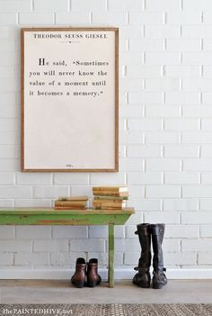 DIY Over-Size Book Page Quote Art…with free printables!