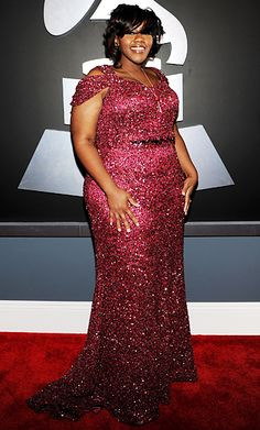 Kelly Price stunned in this fabulous plum sequined gown