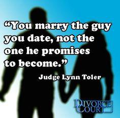I love Judge Lynn Toler!!! Her advice is always on point!