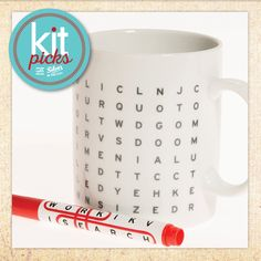 Kit Picks with Silver in the City | Work Search Mug - Perfect for your office gift exchange!