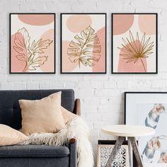 3 Piece Canvas Art, 3 Piece Wall Art, Diy Canvas Art, Wall Art Sets, Abstract Line Art, Abstract Canvas Art, 3 Canvas Paintings, Minimalist Painting, Diy Painting