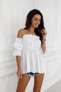 Moderná a štýlová blúzka biela vo veľkosti UNI Off Shoulder Blouse, Leto, Women, Fashion, Tunic, Moda, Fashion Styles, Fashion Illustrations, Woman