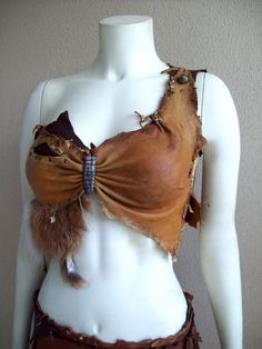 Custom listing for Larnie -- Made to Order -- Custom Forsworn top -- tribal amazon warrrior barbarian viking primitive leather fur