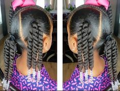 Rope Twist Ponytails w/Beads Tutorial l Kids Natural Hairstyle Little Girls Ponytail Hairstyles, Little Girl Ponytails, Girls Natural Hairstyles, Baby Girl Hairstyles, Natural Hairstyles For Kids, Kids Braided Hairstyles, Natural Hair Styles, Black Hairstyles, Black Toddler Hairstyles