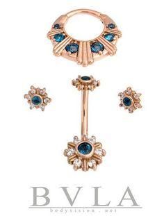 BVLA Rose gold & London Blue Topaz set
