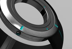 Revolutio Watch, by Mickael Chros. The rotating rings act as the hour and minute hands